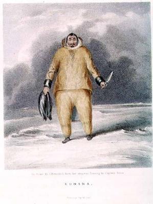 Kunana, an eskimo, engraved by John Brandard