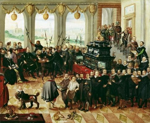 Presentation of the Pomeranian Kunstschrank to Duke Philip II of Pomerania-Stettin