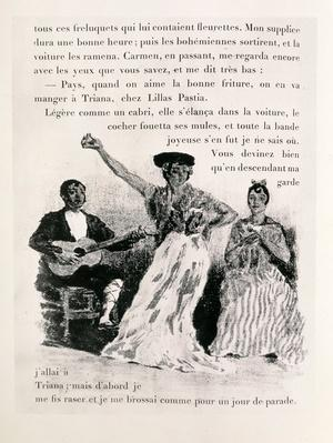 Carmen dancing, pub.1901