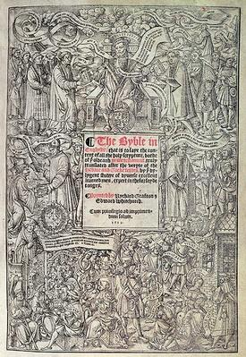 Titlepage introducing English translation of the Great Bible