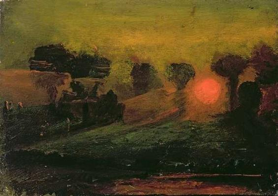 Sunset through Trees, c.1855