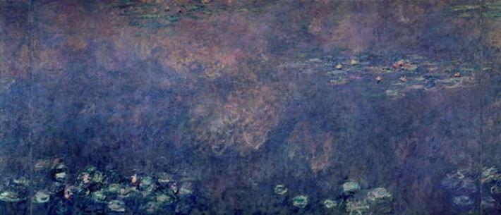 Waterlilies: Two Weeping Willows, centre left section, 1914-18