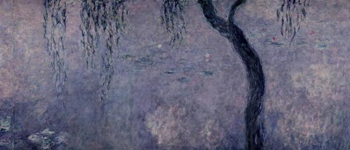 Waterlilies: Two Weeping Willows, right section, 1914-18