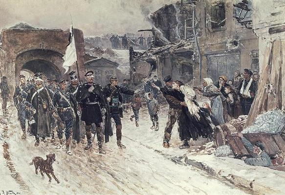 The Entrance into Belfort of the German Commander Bearing the Flag of Truce, 4th November 1870, 1884