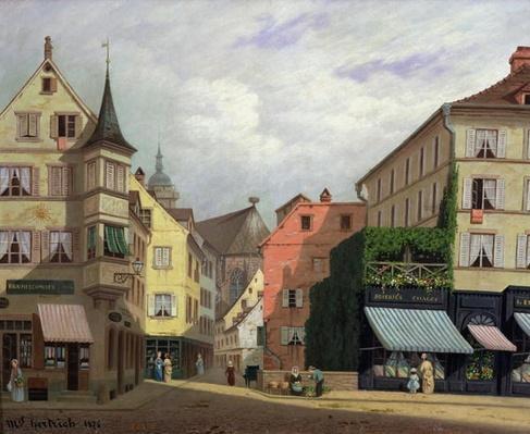 Maison Mathieu, Grand-Rue, Colmar, 1876