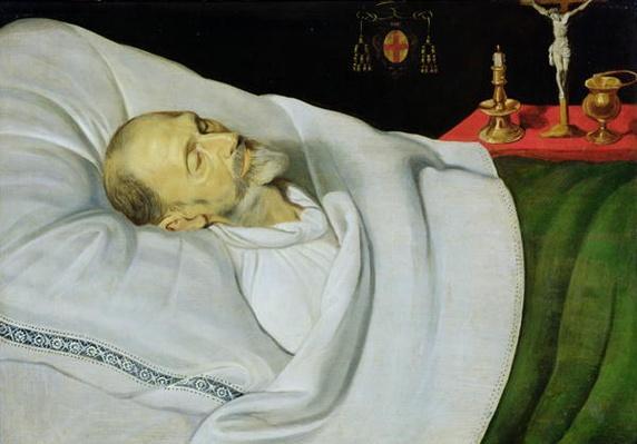 Antoine de Henin, Bishop of Ypres, on his death bed