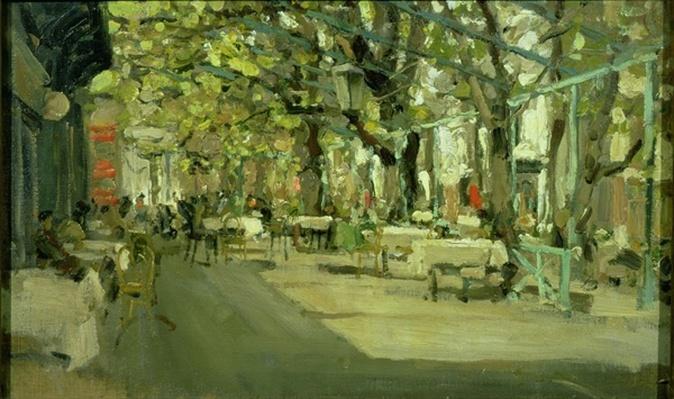 Cafe in Yalta, 1905