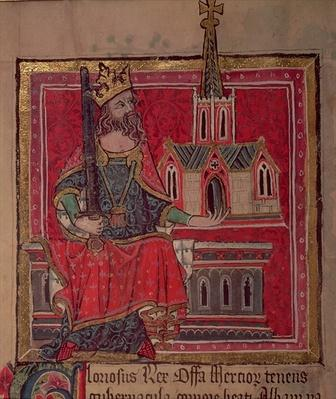 Cott Nero D VIII Offa, King of Mercia, from the Benefactors Book of St. Alban's Abbey, c.1380