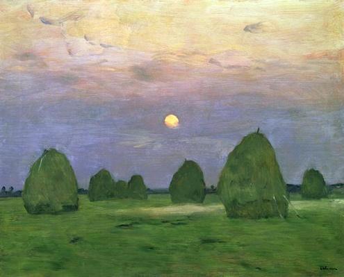 Hayricks at Dusk, 1899