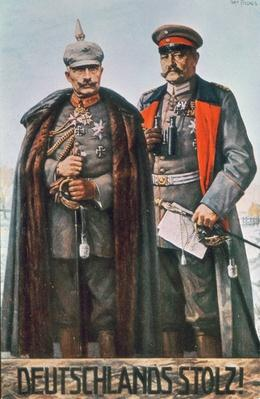 Kaiser Wilhelm II and Field Marshal Hindenburg