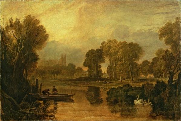 Eton College from the River, or The Thames at Eton, c.1808