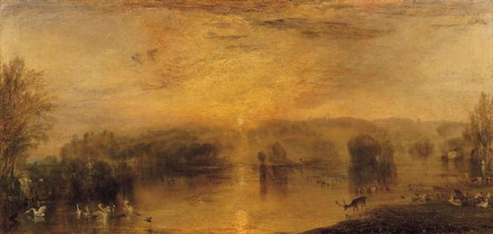 The Lake, Petworth: Sunset, a Stag Drinking, c.1829