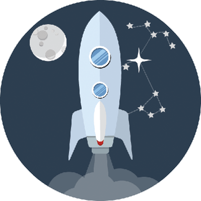 Rocket: Flat Icon | Clipart