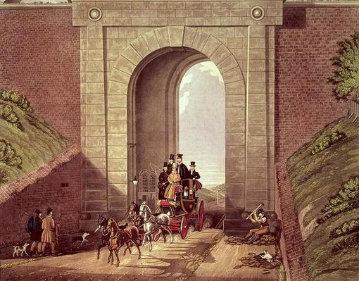 Highgate Tunnel, engraved by George Hunt, c.1830