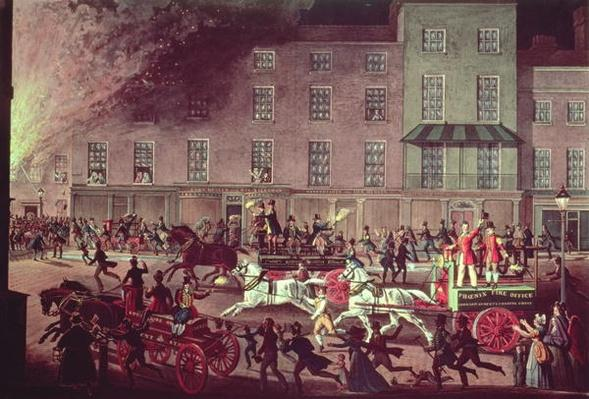 London Fire Engines, engraved by R.G. Reeve, pub. by Thomas McLean, c.1830