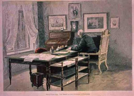 Prince Bismarck in his study at Friedrichsruh, c.1890