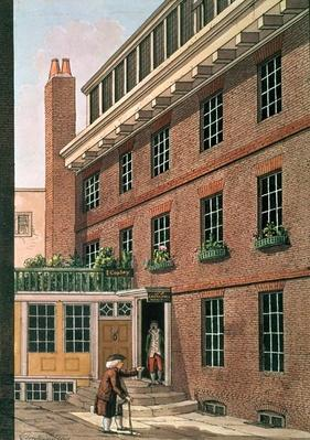 Dr Johnson and his servant, Francis at Bolt Court, Fleet Street, 1801