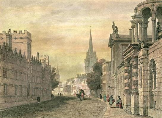The High Street, Oxford, engraved by G. Hollis, 1835