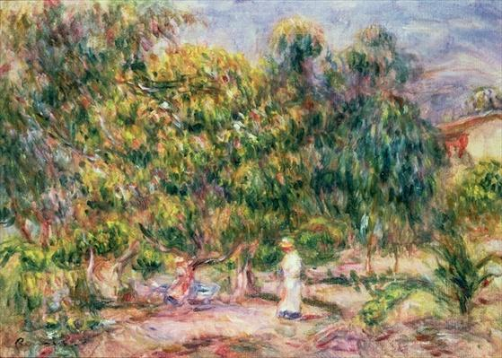 The woman in white in the garden of Les Colettes, 1915