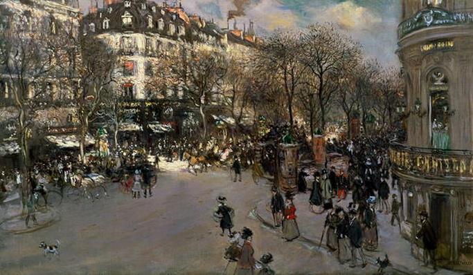 The Boulevard des Italiens, c.1900