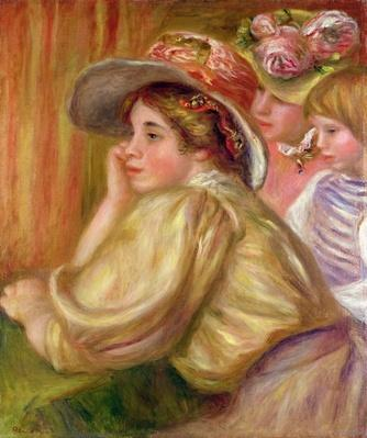 Coco and the two servants, 1910