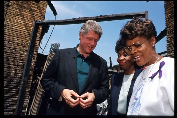 Democratic Presidential Candidate Bill Clinton Visits Riot-Ravaged Los Angeles | U.S. Presidential Elections: 1992