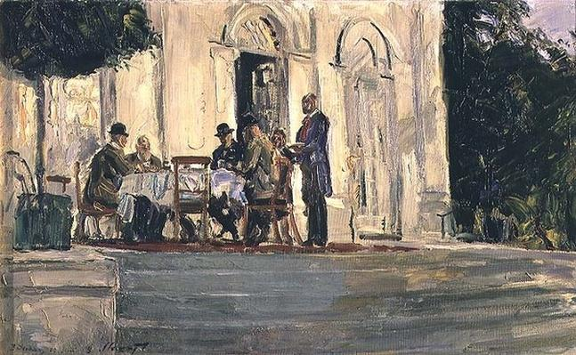 Dinner on the Badenburg Terrace at Castle Nymphenburg, 1908