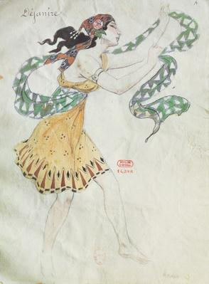 Costume design for Delilah from the opera 'Samson and Delilah' by Charles Camille Saint-Saens