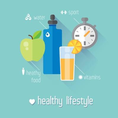 Healthy lifestyle flat illustration | Health and Nutrition