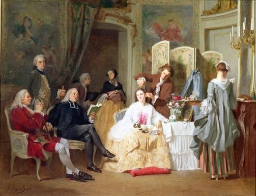 Abbe Prevost reading 'Manon Lescaut', 1856
