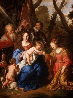 The Mystic Marriage of St. Catherine, with St. Leopold and St. William, 1647