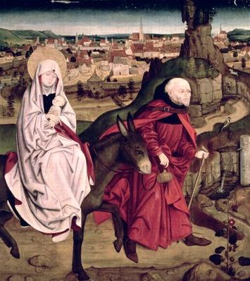 The Schotten altarpiece depicting the Flight into Egypt, 1475