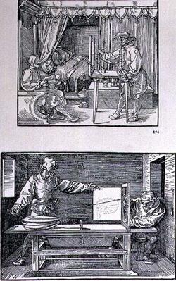 Apparatus for translating three-dimensional objects into two-dimensional drawings, pub. 1525