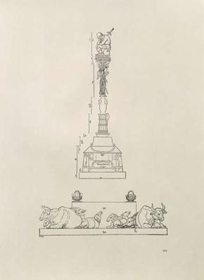 Monument commemorating the Victory over the Peasants, from the 'Manual of Measurement', pub. 1525
