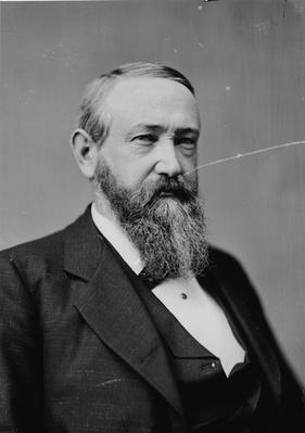 President Benjamin Harrison, c.1870-80 (b/w photo) by American Photographer, (19th century)
