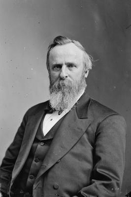 President Rutherford B. Hayes, c.1870-80 (b/w photo) by American Photographer, (19th century)