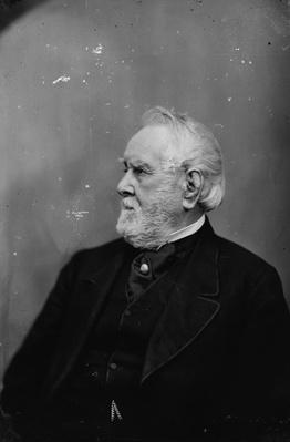 W.W. Corcoran, 1870-80 (b/w photo) by American Photographer, (19th century)