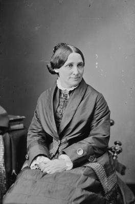Mrs. Rutherford B. Hayes, 1870-80 (b/w photo) by American Photographer, (19th century)