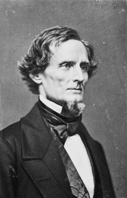 Jefferson Davis, 1855-65 (b/w photo) by American Photographer, (19th century)