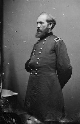 General James Garfield, 1861-65 (b/w photo) by American Photographer, (19th century)
