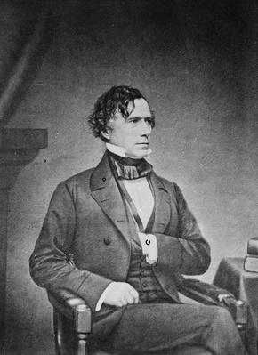 President Franklin Pierce, 1855-65 (b/w photo) by American Photographer, (19th century)