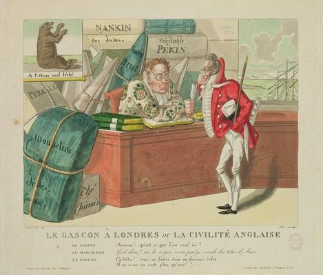 The Gascon in London, or English Civility, 1806
