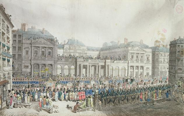 Napoleon's coronation procession passing the Council of State, 2 December 1804