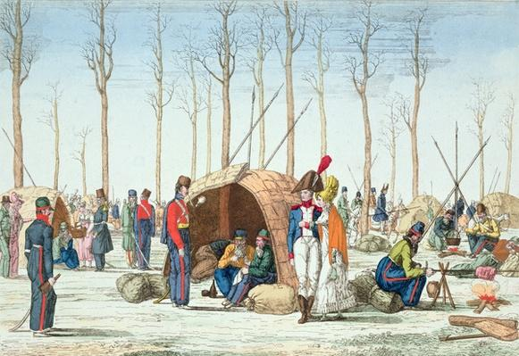 Bivouac of Russian troops on the Champs Elys�es, Paris, 31 March 1814