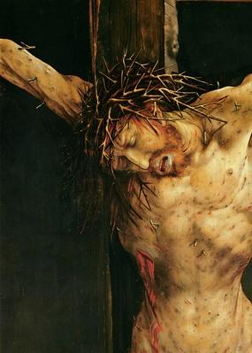 Christ on the Cross, detail from the central Crucifixion panel of the Isenheim Altarpiece, c.1512-15