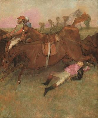 Scene from the Steeplechase: The Fallen Jockey, 1866