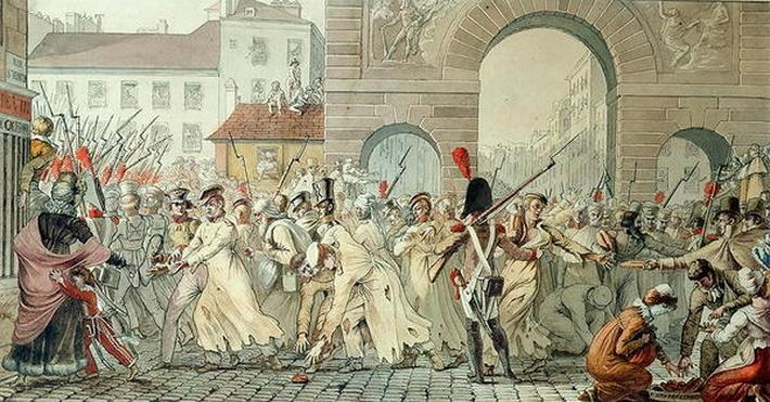 Russian Prisoners Paraded on the Boulevard Saint-Martin after the Battle of Montmirail, 17th February 1814