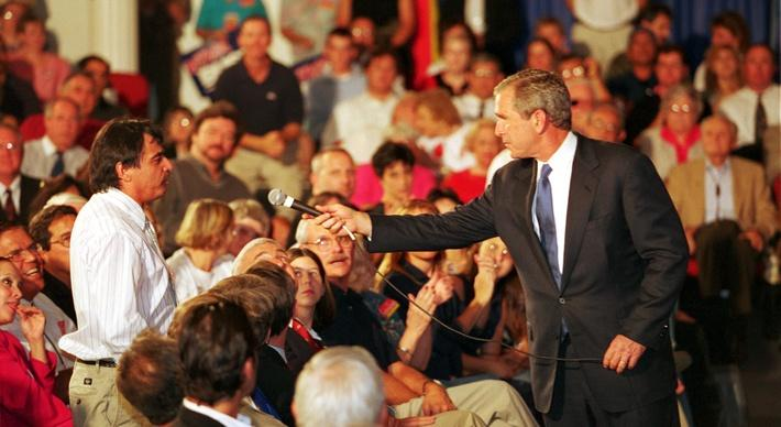 Texas Gov. George W. Bush Campaigns at the University of New Mexico | U.S. Presidential Elections: 2000