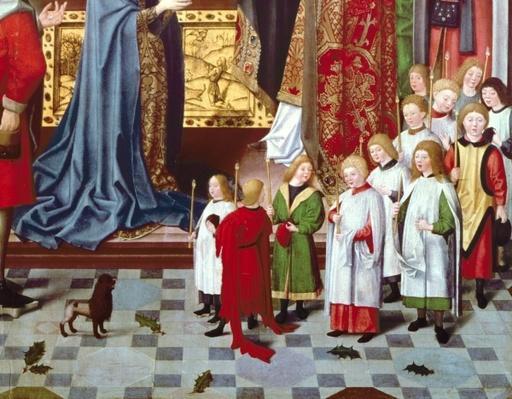 The Seven Joys of the Virgin Altarpiece: detail of a boys' choir, c.1480
