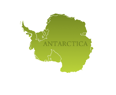 Antarctica Map With Navigation Icons | Clipart